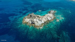 Aerial View of Greek island - Greece & Mediterranean Luxury Travel