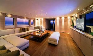 Interior of best Luxury Yacht Charter