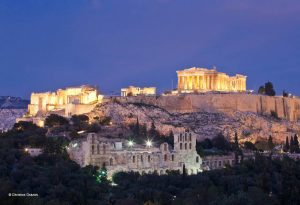 Acropolis View at night - Luxury Travel