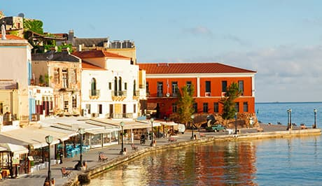 Chania waterfront best Crete luxury vacation