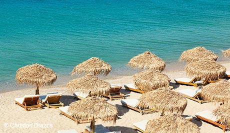 Mykonos popular beach - Mykonos Luxury Vacations and Honeymoons