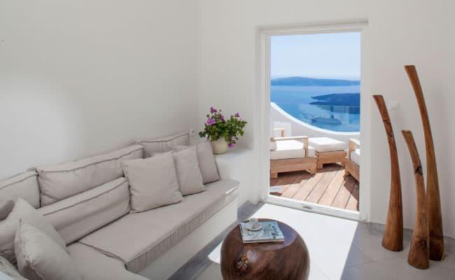 santorini private villa best caldera view