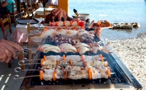 Grilled seafood - Best Greece Food & Wine Tours