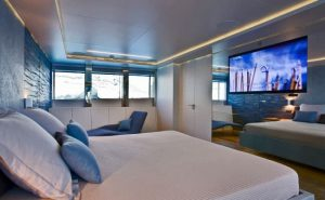 Stylish interior of Luxury Motor Yacht Charter